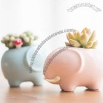 Elephant Porcelain Mini Flower Pot Pen Holder