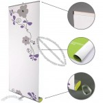 Elliptical Base Good Quality Roll Up Banner Stand 33