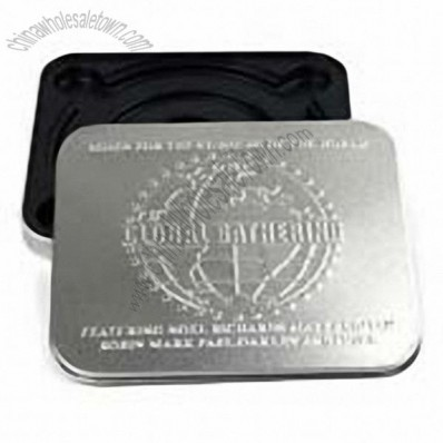 Embossed Square CD/DVD Tin Box