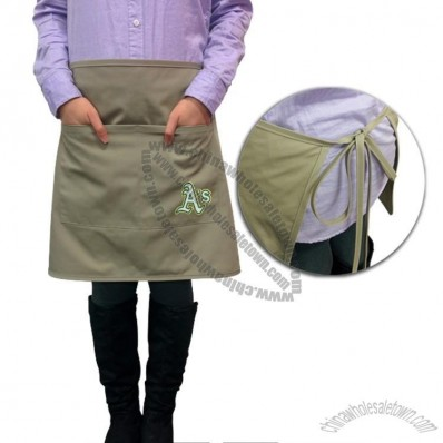 Embroidered Bistro Apron 2 Pockets