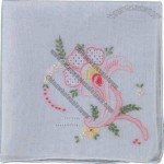 Embroidered Ladies Hankie Made Of Cotton
