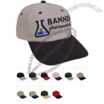 Embroidered Six Panel Brushed Twill Cap
