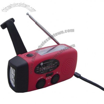 Emergency solar radio with cell phone charger