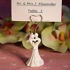 Enchanting Bride and Groom Calla Lily Design Place Card Holder