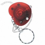Energy-saving Mini LED Keychain in Heart Shape