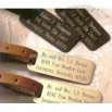 Engraved Metal Luggage Tags