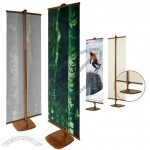 Environmentally Friendly Bamboo Shelf Banner Stands