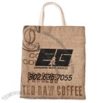 Espresso Recycled Jute/Burlap Coffee Tote Bag