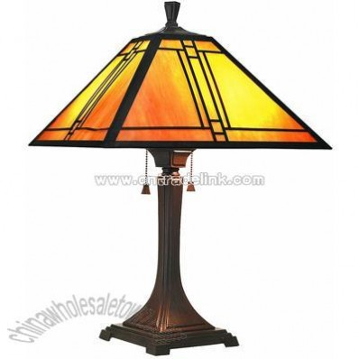 Estate Tiffany Table Lamp Antique Bronze