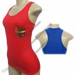 Esti Couture Ladies 3 Pack Solid Race Back Tank Top in 4 Sizes and 6 Colors