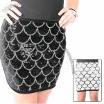 Esti Couture Ladies Sequin Mini Skirt