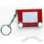 Etch a Sketch Game Keychain & Keyring