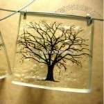 Etched Tree Pendant