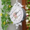 European-Style Garden Roses Double Sided Wall Clock