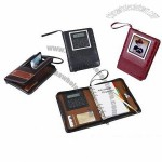 European Stylish Hardcover Porfolio Organizer with Calculator
