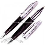 Executive leather wrapped ballpoint pen