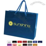 Extra large glossy tote bag with laminate paper and 6
