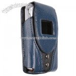 Extreme Fashion Navy Leather Cell Phone Case