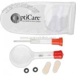 Eye glass repair kit with magnifier