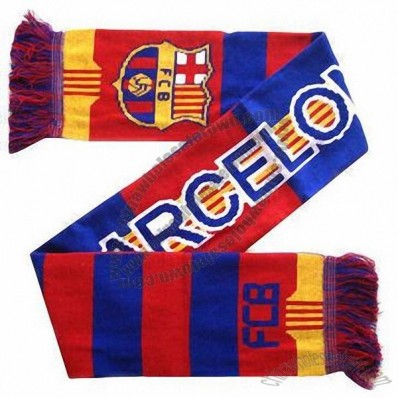 FCB Knitted Jacquard Football Scarf