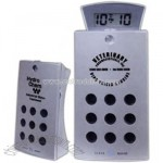 FM auto scan aluminum radio with sliding alarm clock
