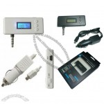 FM transmitter for 3.5mm iPhone 3GS 4G iPod Nano