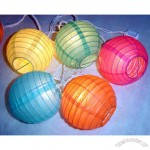Fabric Decotative Lantern Party Holiday String Light of 10 Set