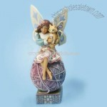 Fairy with Cat Figurine - Feline Fairy