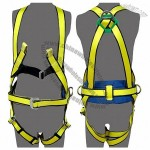 Fall Arrest Positioning Harnesses With Back Comfort Pad For Work