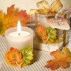 Fall Leaf Candle Wedding Favors