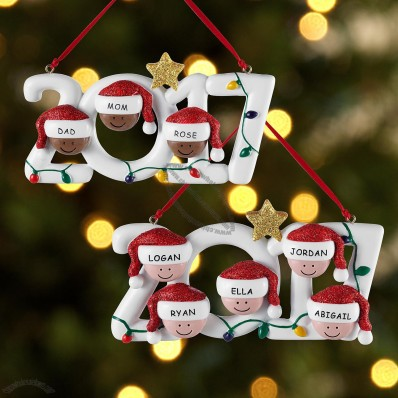 Family Holiday Ornament for Christmas Newyear