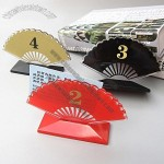 Fan Shaped Acrylic Menu Holder and Desk Plate