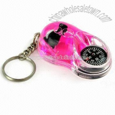 Fancy Liquid Compass Keychain