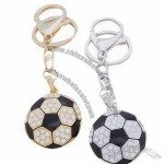 Fancy Metal Keychain with Football Design