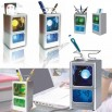 Fantasy Colorful Pen Holder Digital Calendar Clock
