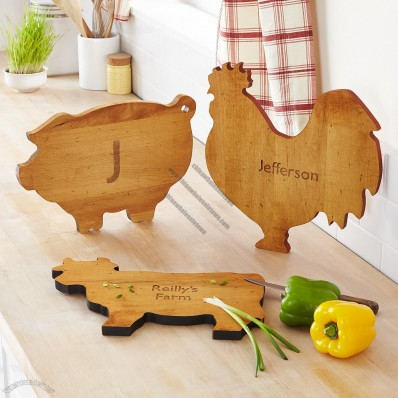 Farm to Table Wood Animal Cutting Board