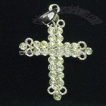 Fashion Cross Pendant with Gemstone