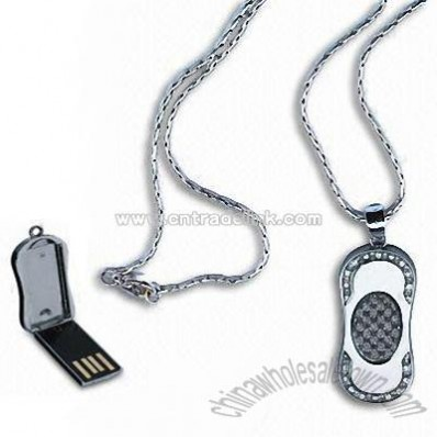 Fashion Design USB Flash Drive with Necklace
