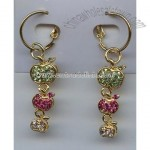 Fashion Jewelry---Three Apple Earrings