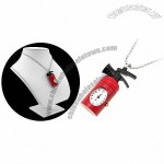 Fashion Jewelry Hydrant Pendat Quartz Clock Watch - Red