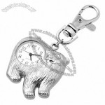 Fashion Jewelry Polar Bear Key Ring Quartz Clock Watch