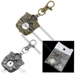Fashion Jewelry Shirt -Form Pendant Key Ring Quartz Clock Watch