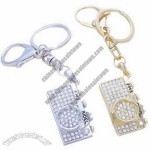 Fashion Metal Keychain with Shiny Rhinestones