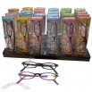 Fashion Plastic Reading Glasses With Display and Case