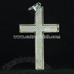 Fashion Stainless Steel Cross Pendant with Fibres