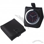 Fashion Travel Leather Clock