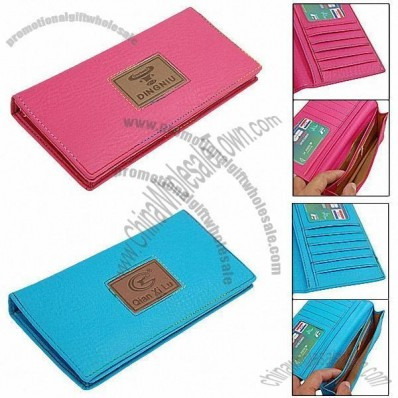 Fashion Unisex Long Leather Credit Card Holder Wallet Purse