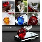 Fashion crystal rose car perfume seat