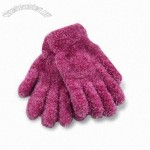 Fashionable Feather Yarn Knitted Magic Winter Gloves