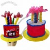 Fashionable Festival Birthday Cake Hat with Eight Candles